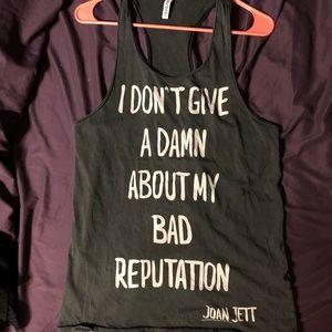 Joan Jett lyric tank top